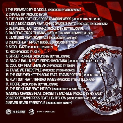 folarin tracklist