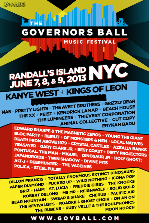 governors ball 2013 lineup
