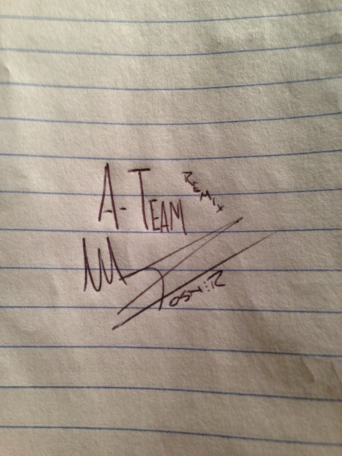 Mike Posner-The A Team Remix