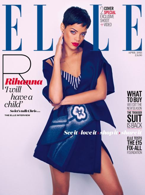 Rihanna Covers Elle Uk April 2013 1