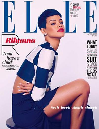 Rihanna Covers Elle Uk April 2013 3