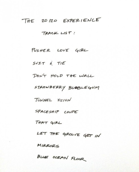 Justin Timberlake The 20 20 Experience Tracklist