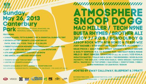 Soundset 2013 Lineup